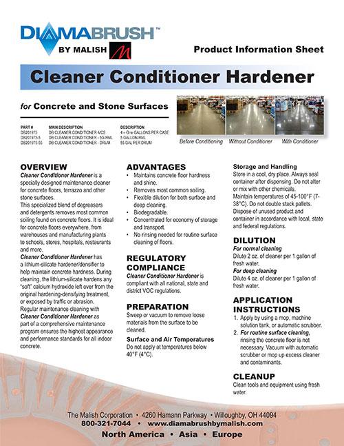 Cleaner Conditioner Hardener Sell Sheet