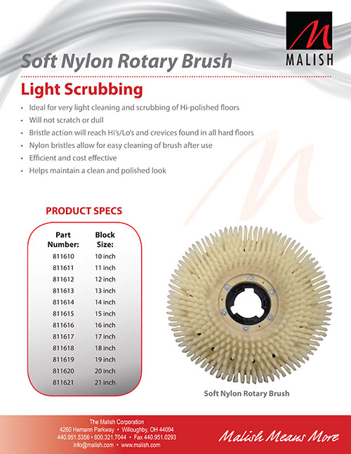 Soft Nylon Rotary Brush
